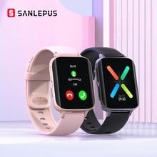 Sanlepus 2021 Nieuwe Bluetooth Oproepen Smart Horloge Mannen Vrouwen Waterdicht Smartwatch MP3 Speler Voor Oppo Android Apple Xiaomi Huawei