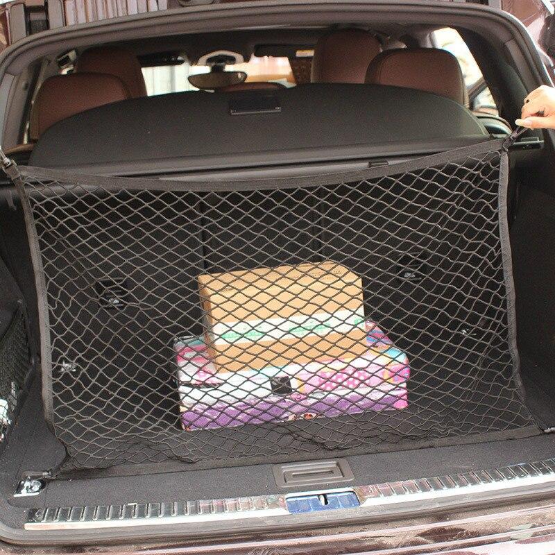 Для hyundai Creta IX25 IX35 I30 Tucson Solaris Santa Fe авто для хранения багажа в багажник автомобиля Грузовой Органайзер нейлоновая эластичная сетка