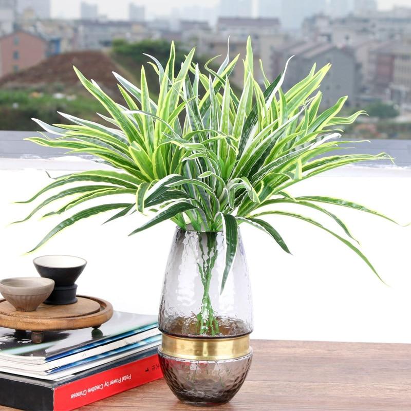 Artificial Chlorophytum Branch Plastic Plants For Home Garden Decoration Fake Plants Indoor Decor