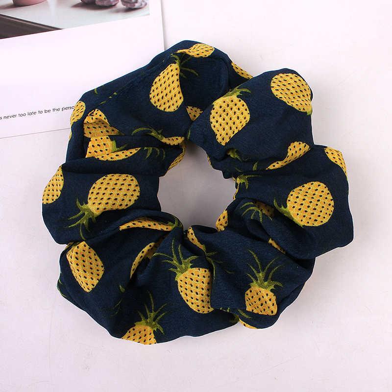 Koreaanse Vrouwen Hearwear Meisjes Haar Tie Gestreepte Lady Scrunchies Paardenstaart Haar Vrouwelijke Houder Touw Ananas Print Haaraccessoires