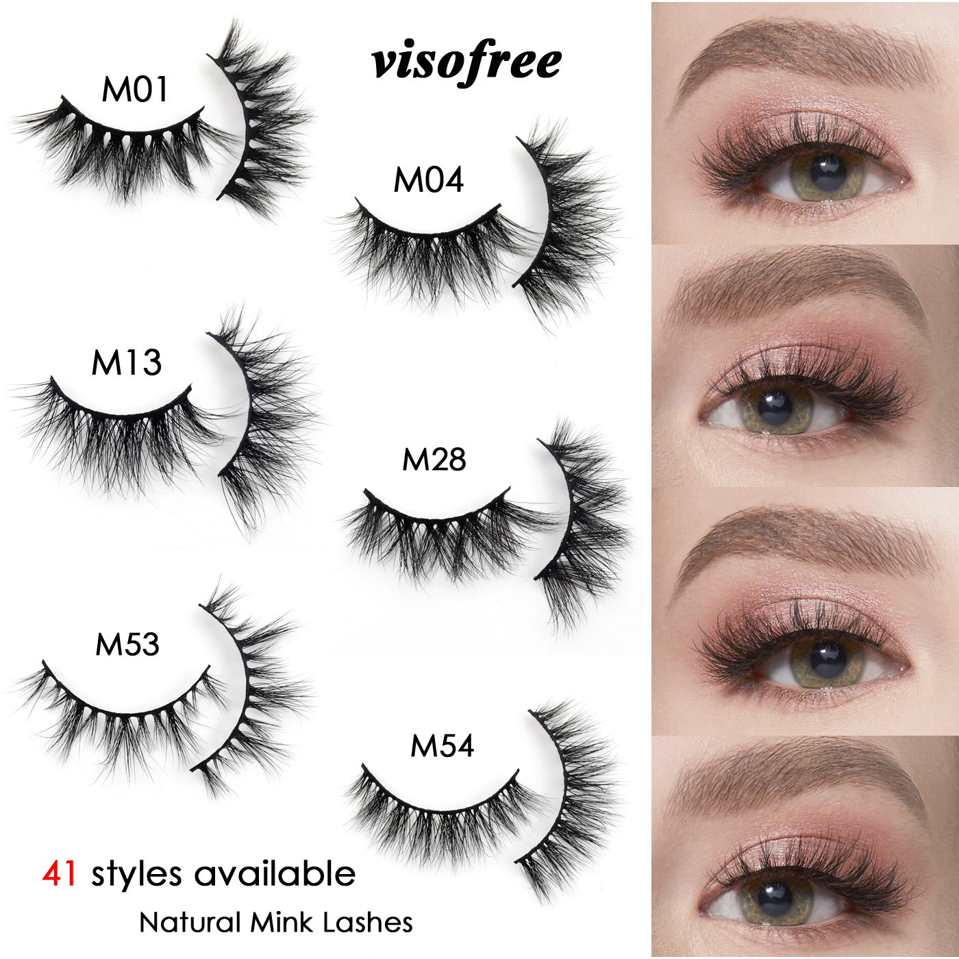 Visofree Eyelashes Makeup 3d Mink Lashes Natural Short Mink Eyelashes Natural Lashes Wispy Eye Lashes Maquillaje Fake Lashes