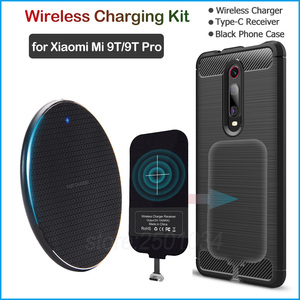 Image 1 - Qi Wireless Charger Install Type C Receiver for Xiaomi Mi 9T/9T Pro/Redmi K20/K20 Pro Enjoy Wireless Charging Gift Case