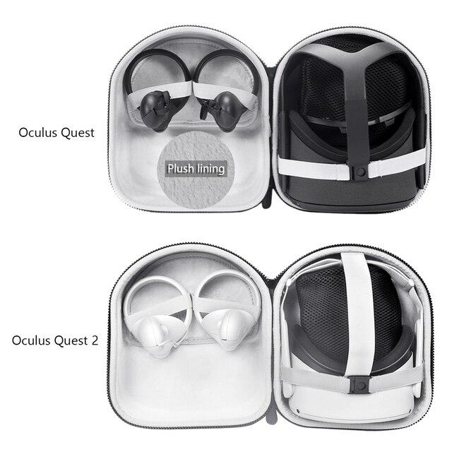 من الصعب إيفا السفر حمل حقيبة حماية حقيبة كيس التخزين غطاء صندوق ل كوة كويست 2/كوة كويست الواقع الافتراضي VR الملحقات