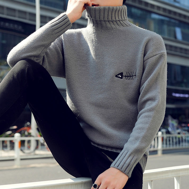 Image 4 - 2019 New Winter Thick Warm Cashmere Sweater Men Turtleneck Printed Mens Christmas Sweaters High Quality Fashion Men's Pullovers-in Pullovers from Men's Clothing