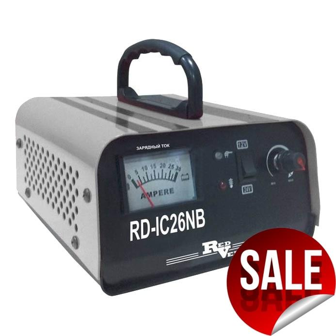 Устройство зарядное для АКБ RedVerg RD-IC26NB (Напряжение: вход- 220 В/50Гц; выход- 12/24В; 680/900Вт; Ток заряда:4-20А/