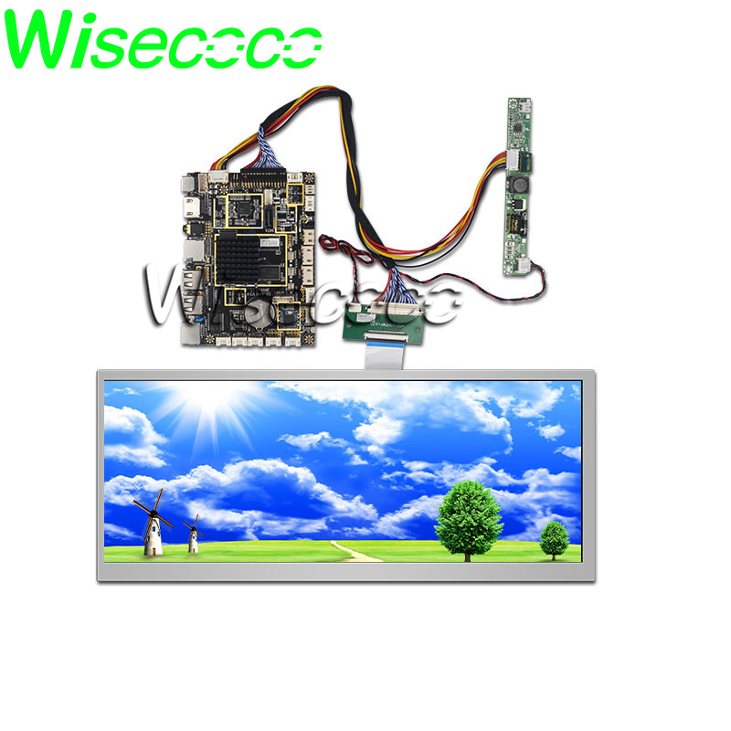 Wisecoco HSD123KPW1-A30 LCD Display 12.3 Inch 1920x720 Screen Automotive Car High Brightness 1000 Nits HDMI Andriod Board System