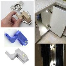 Lámpara led de 12V CC para iluminación de muebles, con bisagra y apagado automático, para armario, cocina, Sensor de luz interior, 4 Uds. Por lote