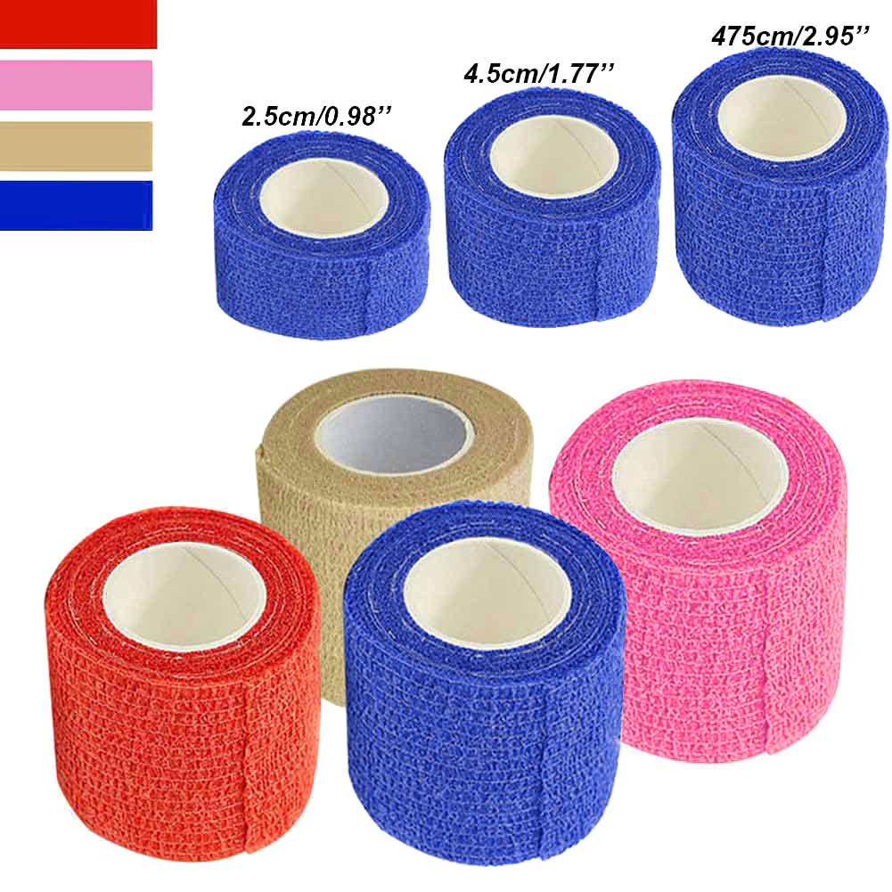 Wholesale New Self Adhesive Ankle Finger Muscles Care Elastic Medical Bandage Gauze Tape Sports Wrist Support M88