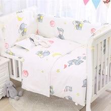 Whashable Kids Bed Protector Bumpers Baby Bedding Sets Newborns Crib Bedding Set Infant Cot Accessori Sheet Pillowcase 6Pcs/Set