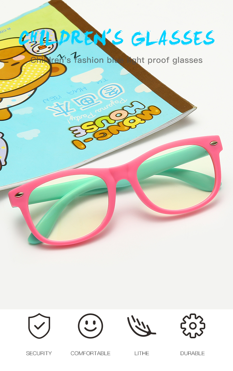 New Kids Anti-Blue Light Glasses-Comfortable and Durable