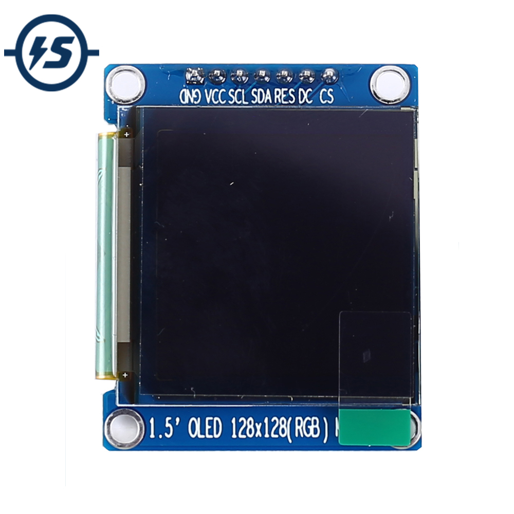 SPI RGB <font><b>OLED</b></font> <font><b>Display</b></font> Screen Module 65K SSD1351 Driver 128*128 3.3V Power 1.5inch <font><b>128x128</b></font> image
