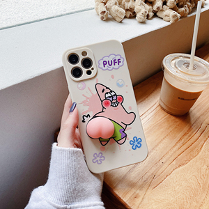 Image 1 - Cute Starfish Butt Soft Case for iPhone 12 Pro Max XR 7 8 Plus XS X Lovely Squeeze Toy Reliever Silicone Cover SE 2020 11 Pro