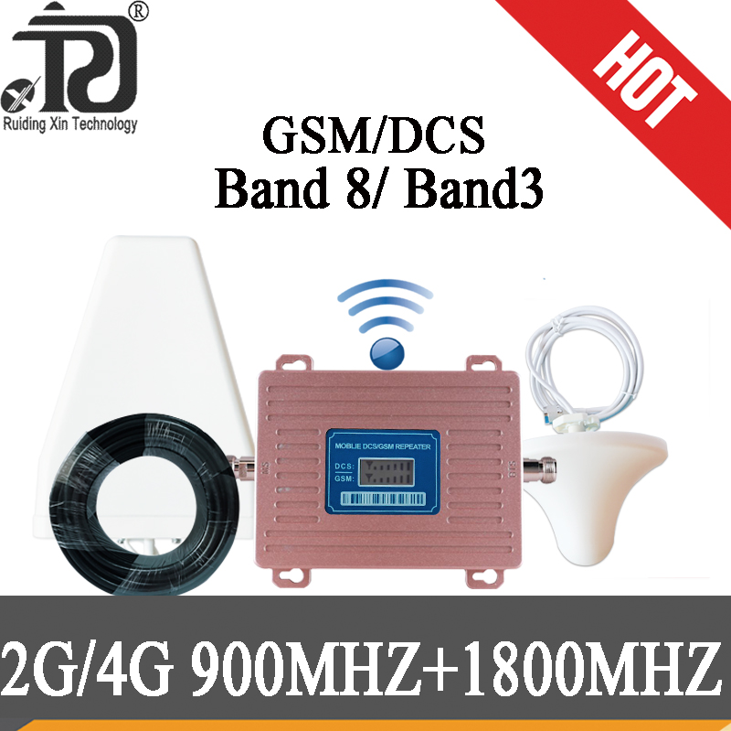 4g Signal Booster Dual Band 2G 1800 Repeater 4g GSM 900 LTE 1800 Mobile Phone 70dB Signal Booster 4G Cellular Signal Amplifier