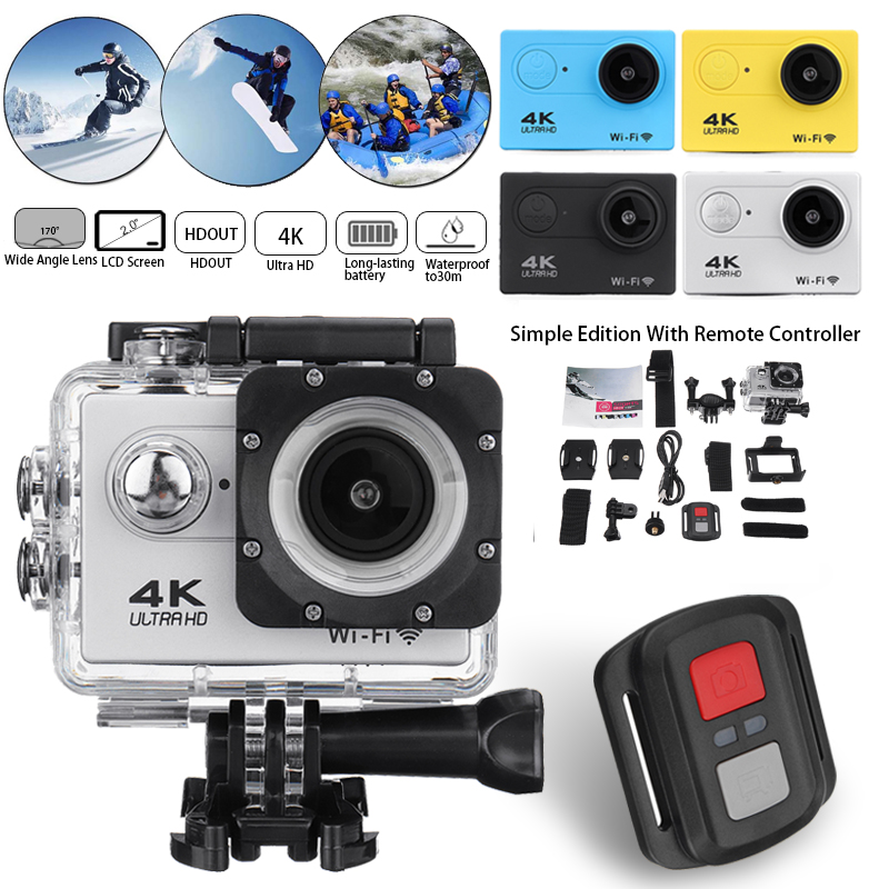 Action-Camera Wifi Go-Extreme Waterproof Video-Recording Full-Hd 1080p 4K