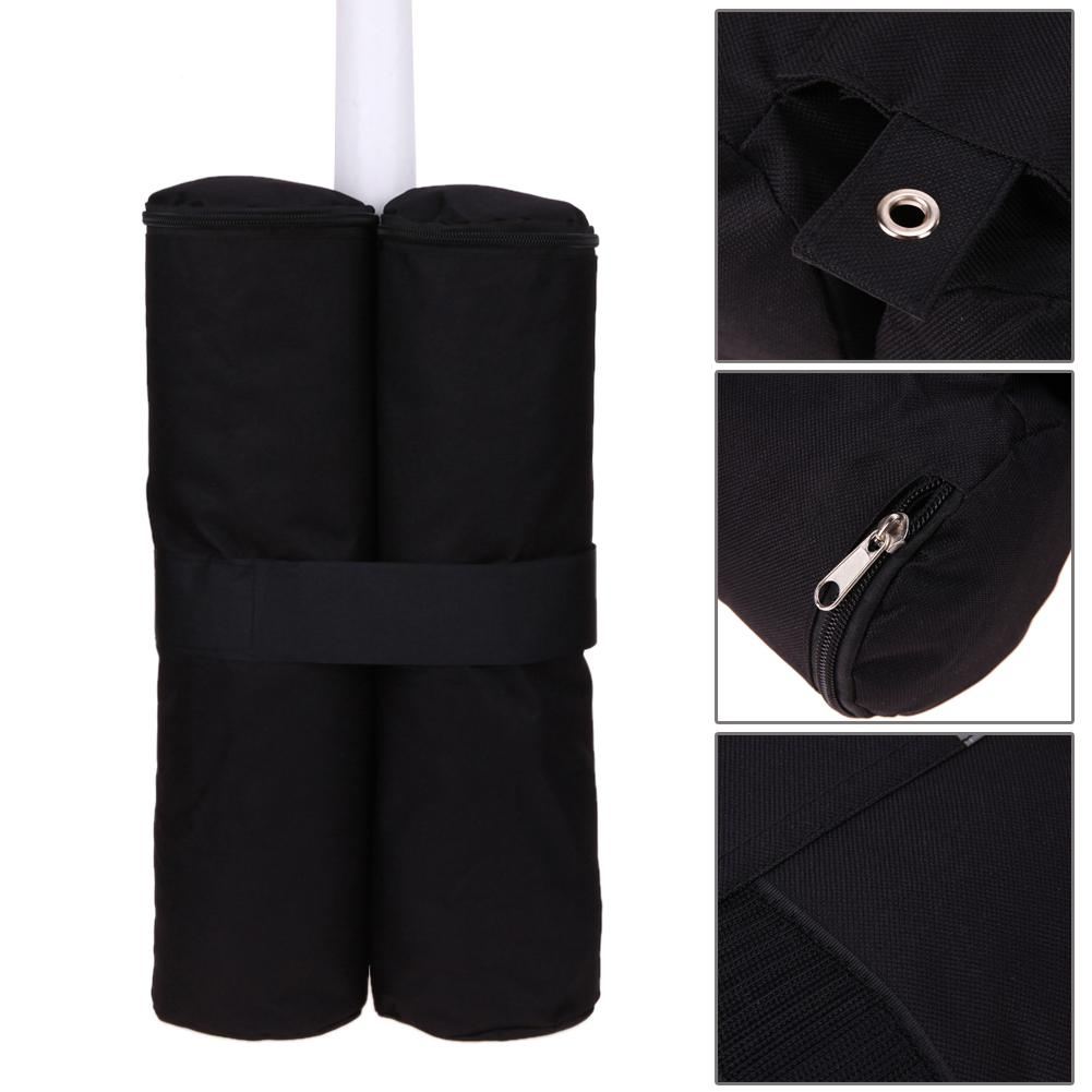 Outdoor Tent Accessories 4 Piece Family Beach Awning Light Sunshade Tent Sandbag Holder Portable Awning Outdoor Park Hot Black in Tent Accessories from Sports Entertainment