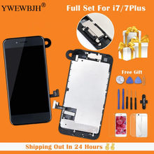 YWEWBJH Full Assembly LCD or Complete Display For iPhone 7 7 Plus with 3D touch Screen and Front Camera+Earpiece Speaker(China)