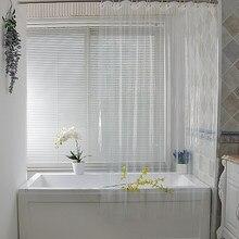 Rideau de douche Transparent imperméable à l'eau en plastique blanc rideaux de bain Liner Transparent salle de bain moisissure PEVA maison luxe avec crochets