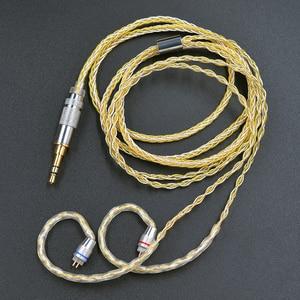 Image 2 - Câble mixte KZ 8 cœurs or argent avec connecteur 2pin/Mmcx utilisé pour KZ ZS10 PRO/ ZSN/ZST/ES4/ZS10/AS10/BA10/ZSN PRO