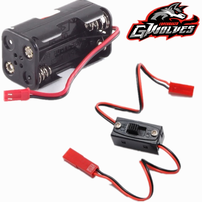 1/10 1/8 RC On/Off Switch JST Connector 6V Receiver box RC light Nitro power box battery box RC FS JLB HSP Car Airplanes boat