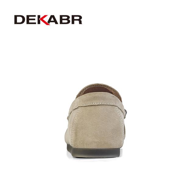 DEKABR Brand New Men Leather Casual Shoes Soft  Loafers Men Moccasins Shoes Slip-on Men Lightweight Driving Shoes  Flats
