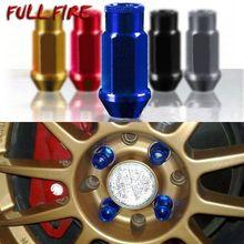 Spec Racing Aluminium legierung Rad Lug Muttern Schraube M12x1.5/1,25 Länge 50mm/40mm für 95% autos 20 teile/los