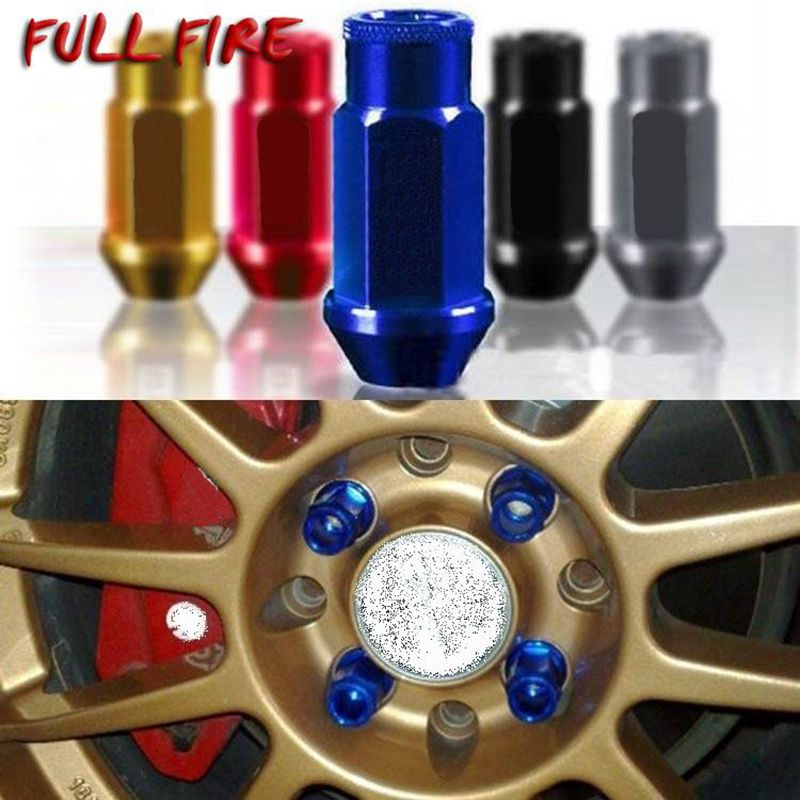 Spec Racing koło ze stopu aluminium nakrętki z końcówką śruba m12x1, 5/1.25 długość 50mm/40mm dla 95% samochodów 20 sztuk/zestaw