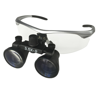 Magnifier 2.5X/3.5X With Headlight A class quality Binocular Dental Loupe Surgical operation magnifying glasses