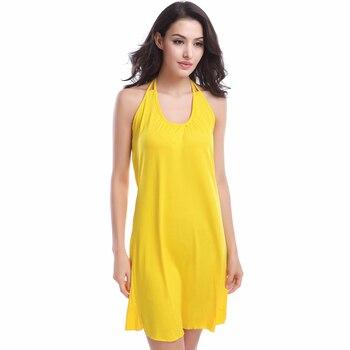 2019 Popular Victoria Design Hot Wholesale Double Spaghetti Straps O Neck Matches Bikini Cover Up Dress Beach S.M.L.XL 6