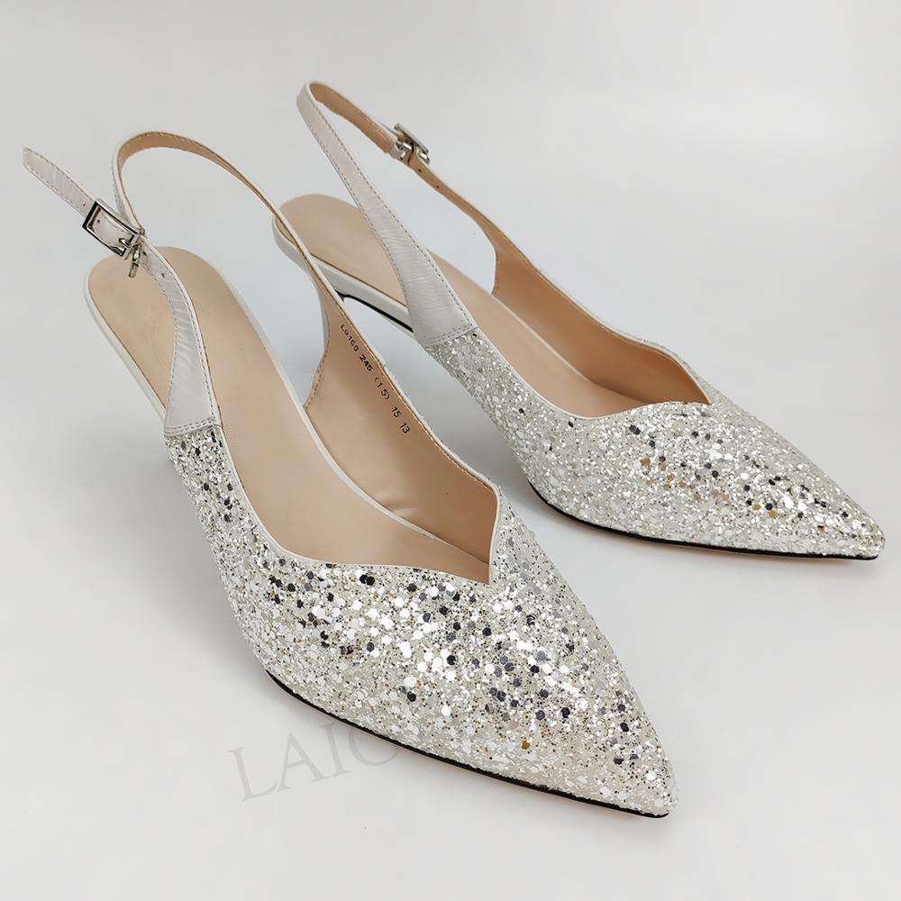 LAIGZEM Wedding Heels 7CM Stiletto Mid