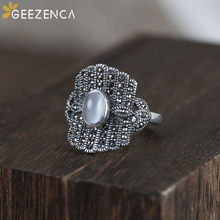 925 Sterling Thai Silver Mosaic Craft Chrysoberyl Rings Cat's Eye Gemstone Ring Fine Jewelry Women Vintage Trendy Bohemia Gift 925 sterling silver thai handcrafted individual trendy leaf frosted fine bracelet creative feather lady s ring accessories