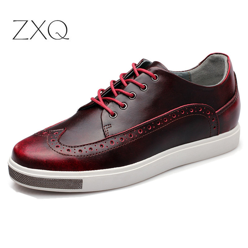 High Quality British Style Genuine Leather Men Shoes Retro Brogues Leather Oxford Shoes For Men Casual Dress Shoes