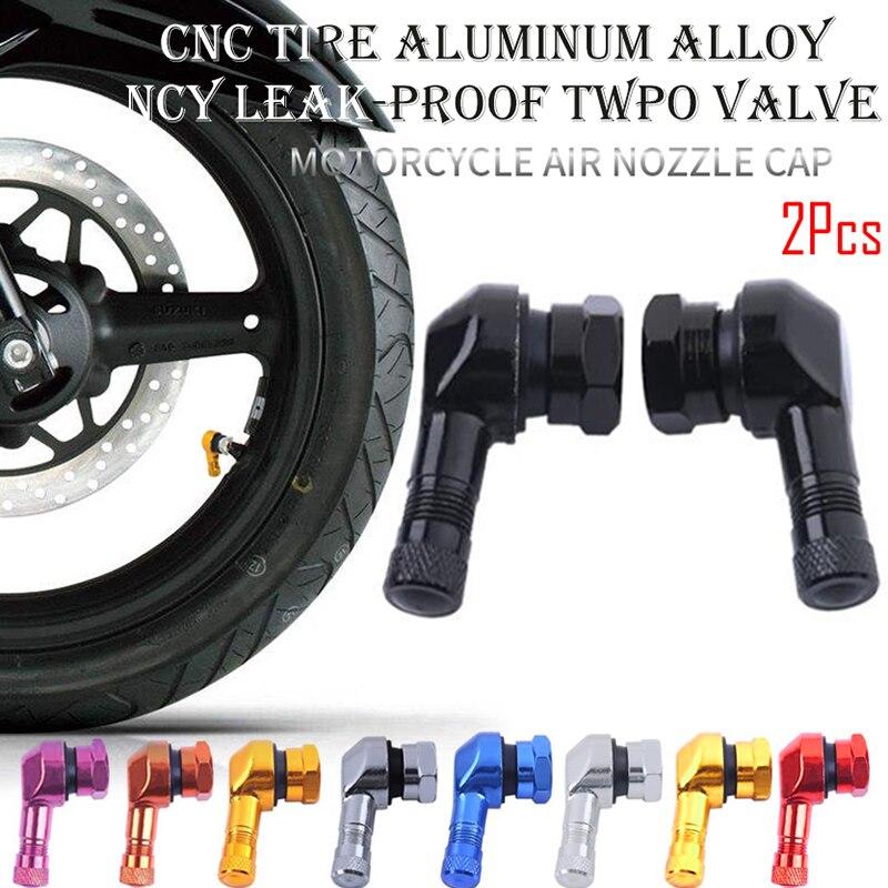 2 шт., 90 градусов, алюминиевый сплав, ствол клапана, колесо мотоцикла, бескамерный клапан, стебли для обода, колеса, запчасти, CNC, обод мотоцикл...