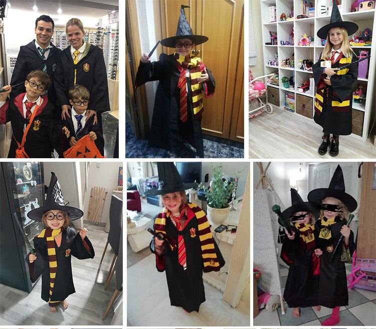 Гарри Поттера Aaccessories Гарри Поттер костюм школа Слизерин Форма одежда Maigc палочка очки халат накидка маскарадный костюм для Хэллоуина