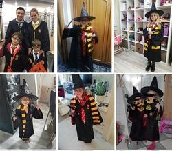 Potter accessories halloween costume cosplay slytherin harry potter robe kids costumes Cloak School Uniform