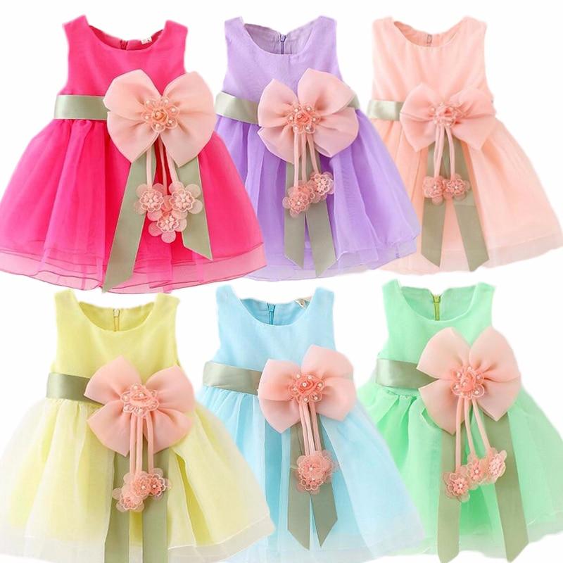 Vestido para meninas, vestido de bolo sem mangas para bebês crianças pequenas, vestido de princesa para o bebê de 1 ano de aniversário, vestidos de batismo k1
