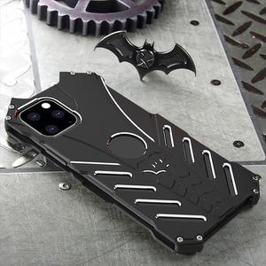 Image 4 - R JUST Batman étui antichoc pour Iphone 11 Pro 12 Mini Max Xr Xs Max 7 8 Samsung S10 S9 Plus housse de luxe en Aluminium en métal