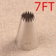 # 7ft Edelstahl Diy Zuckerglasur-friedliche Tipps Cupcake Kuchen Creme Rohrleitungen Düse Cookie Parsty Fondant Kuchen Dekorieren Werkzeug