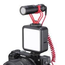 Ulanzi luz LED para vídeo en cámara, iluminación de fotos DSLR con soporte de zapata fría para micrófonos, luz de vídeo Vlog