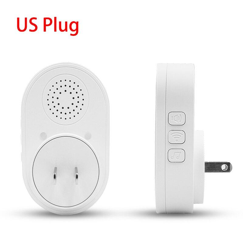 H43d1e757f74843f1b1ef60795fc76be6L - CPVAN Wireless Doorbell Alarm System Smart WIFI Doorbell Strobe Siren Tuya App 58 Sound Compatible Home Security Alarm System