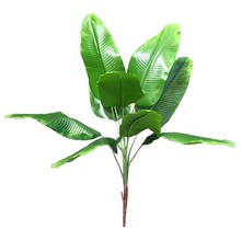 AA99 -Artificial Plants Tropical Leaves Banana Tree Faux Palm Leaf Of Plant Fake Leaves Indoor Outside Garden Wedding Decor(China)