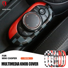 Car Union Jack Interior Sticker Center Console Multimedia Circle Cover Case Shell Protective Sticker For mini cooper F55 F56