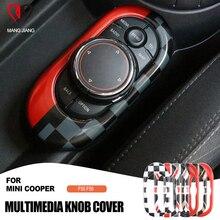 Mini conjunto de adesivos para interior de carro, adesivo protetor de círculo, cobertura de multimídia, para console, cooper f55 f56