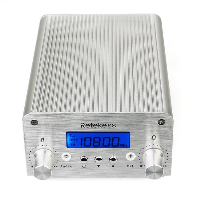 Retekess TR501 6W Wireless FM Broadcast Transmitter Radio Station+10pcs PR13 Radio for Drive-in Church Meeting Translation 4