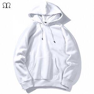 Image 1 - חם צמר נים גברים חולצות 2020 חדש אביב סתיו מוצק לבן צבע היפ הופ Streetwear Hoody איש של בגדים האיחוד האירופי SZIE XXL