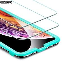IPhone XR 5X 용 ESR 강화 유리 iPhone XS 용 강력한 화면 보호 필름 iPhone XS Max 용 견고한 보호 유리 커버