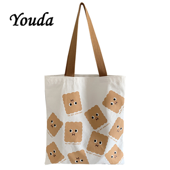 Youda Original Canvas Women Shoulder Bag Fashion Shopping Handbags Classic Ladies Vintage Bags Casual Tote Cute Style Handbag