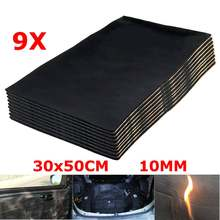9x10 мм Автомобильная звукоизоляция хлопковый коврик для затухания