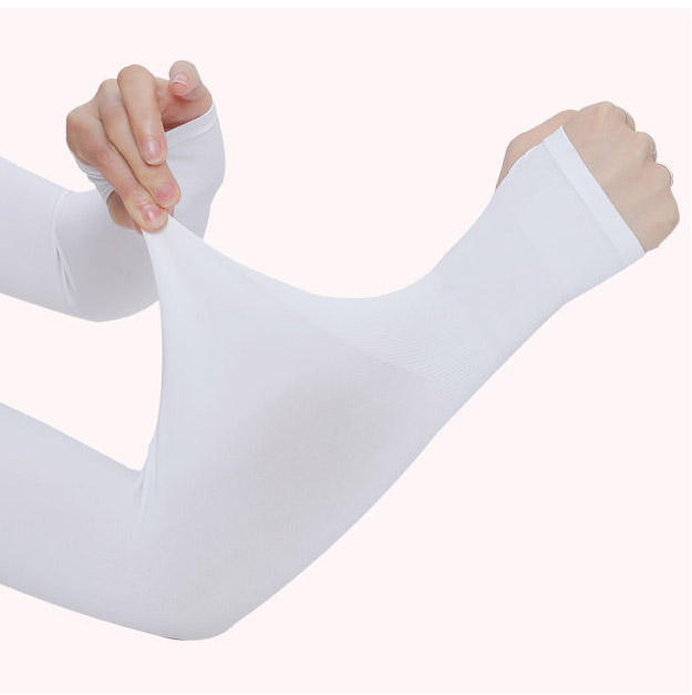 1 Pair Men Pure Color Arm Sleeve Sport Running Cycling Golf Fishing Fingerless Arm Warmers Women Basketball Cuff Sleeves