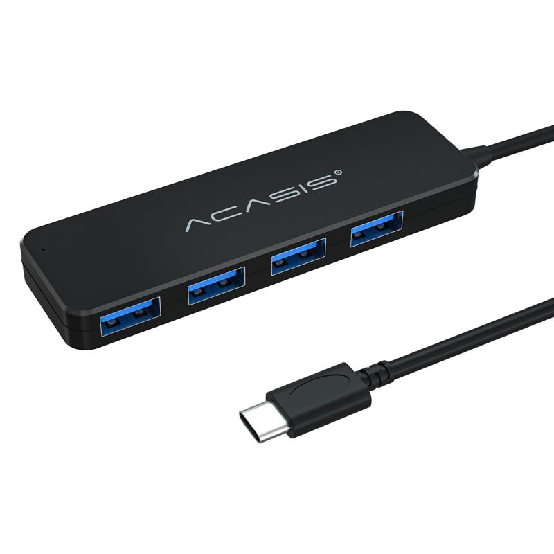 Acasis USB C 4 портовый концентратор 3,0 Тип C концентратор USB разветвитель для MacBook Pro поверхность USB 2,0 hub адаптер с Micro usb-хаб для портативных ПК