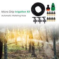 Rega automática jardim mangueira micro sistema de irrigação por gotejamento jardim kit gotejamento com bocal jardinagem ferramentas irrigação dropshipping